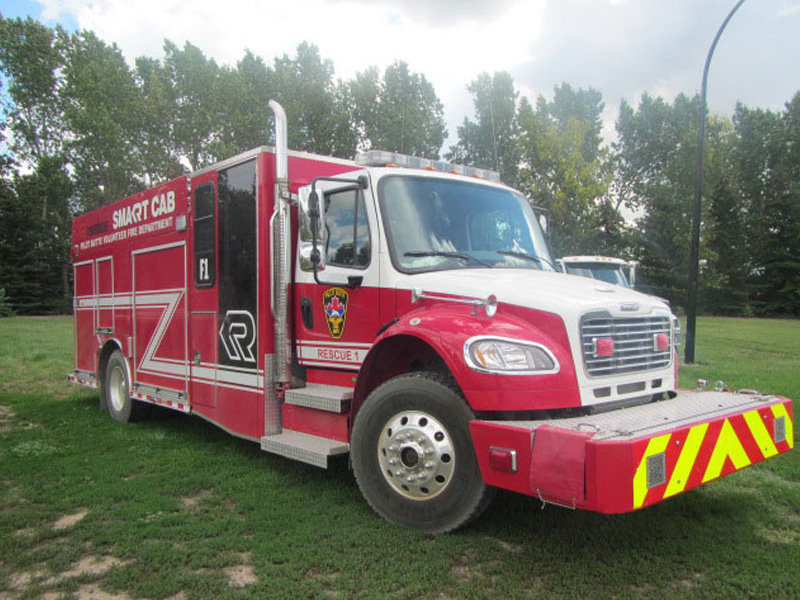 red rescue truck